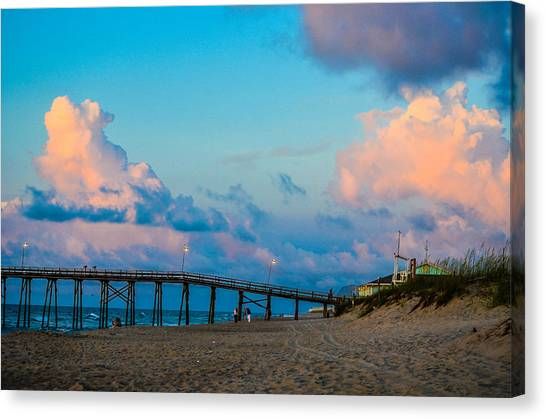 Carolina Blue Over Kure Beach Canvas Print