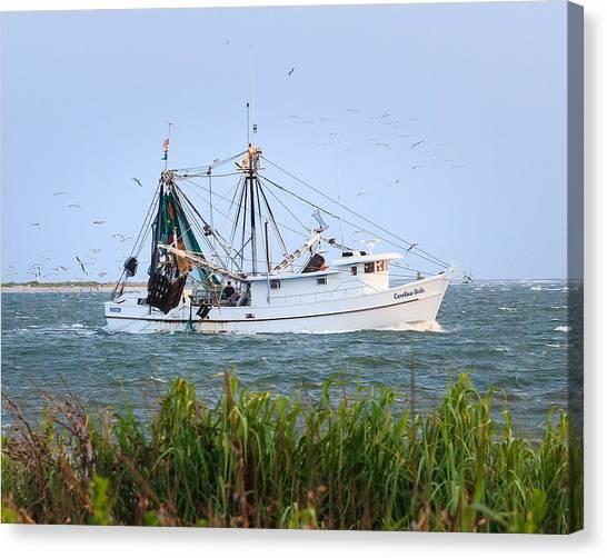 Carolina Girls Shrimp Boat Canvas Print