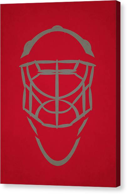 Carolina Hurricanes Canvas Print - Carolina Hurricanes Goalie Mask by Joe Hamilton