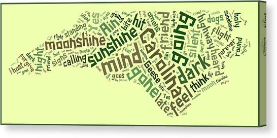 Wright State University Canvas Print - Carolina In My Mind 6 by Paulette B Wright