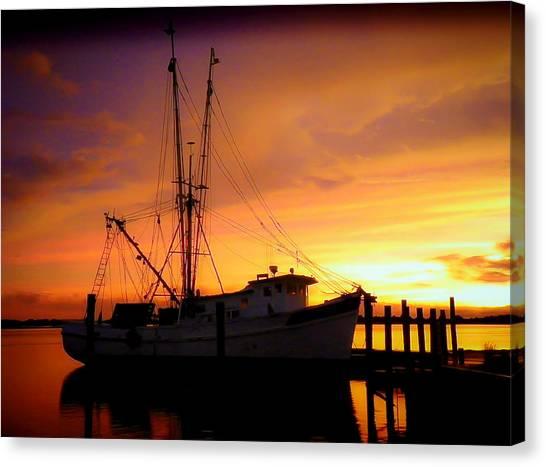 Shrimp Boats Canvas Print - Carolina Morning by Karen Wiles