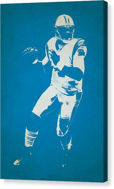 Cam Newton Canvas Print - Carolina Panthers Shadow Player by Joe Hamilton