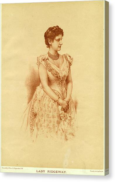 Caroline Lady Ridgeway  Wife Of Sir Canvas Print by Mary Evans Picture Library