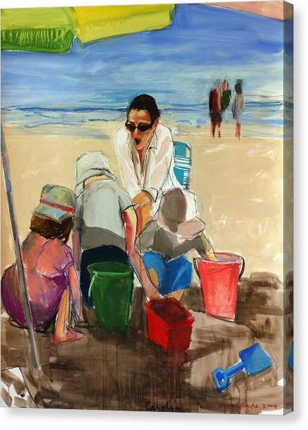 Sand Castles Canvas Print - Carolyn by Daniel Clarke