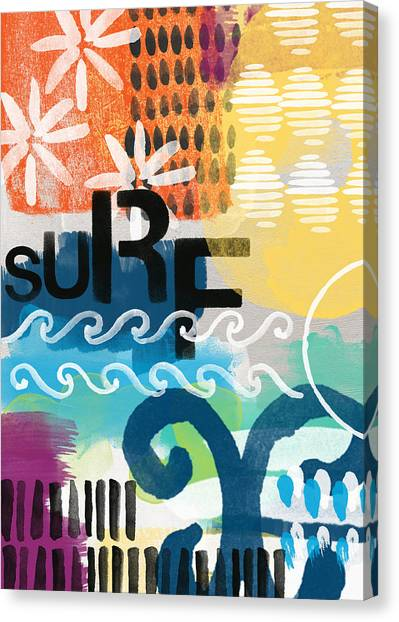 Surf Canvas Print - Carousel #7 Surf - Contemporary Abstract Art by Linda Woods