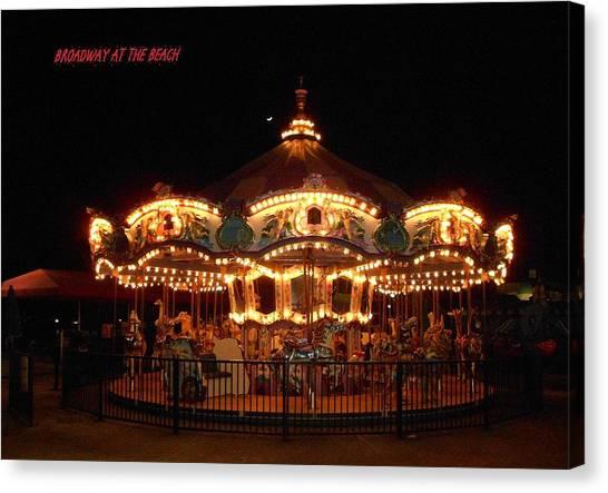 Carousel - Broadway At The Beach - Myrtle Beach Sc Canvas Print by Dianna Jackson