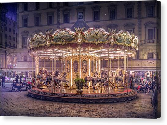Florence Canvas Print - Carousel by Christian Marcel