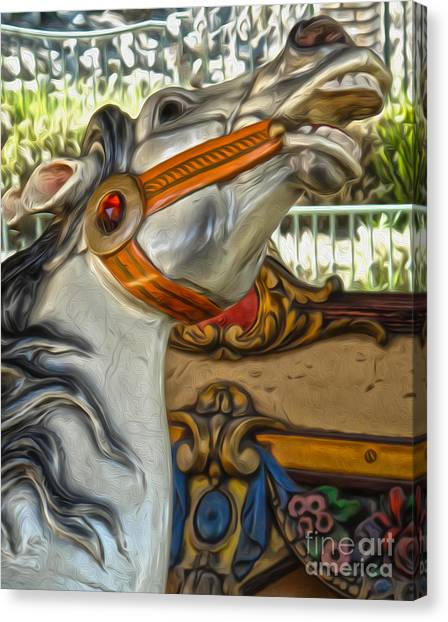 Carousel Horse - 01 Canvas Print by Gregory Dyer