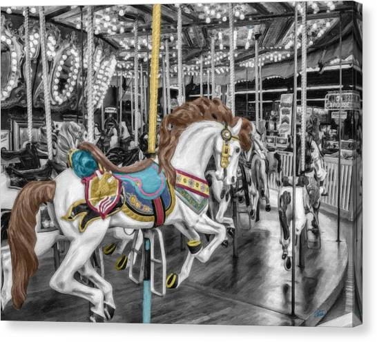 Carousel Horse Equ168125 Canvas Print