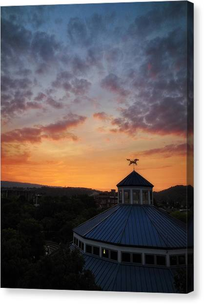 Carousel Sunset 2 Canvas Print