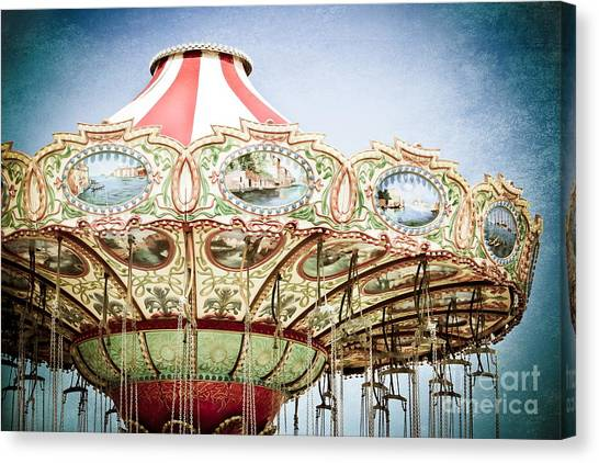 Casino Pier Canvas Print - Carousel Top by Colleen Kammerer