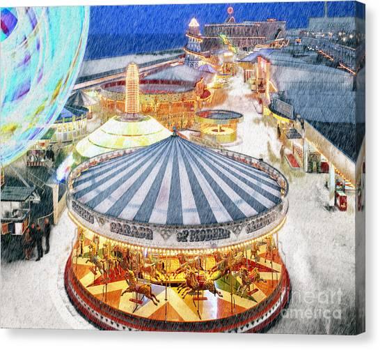 Carousel Waltz Canvas Print