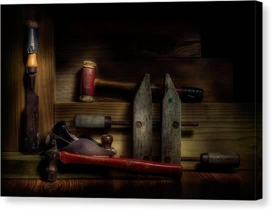 Antique Canvas Print - Carpentry Still Life by Tom Mc Nemar