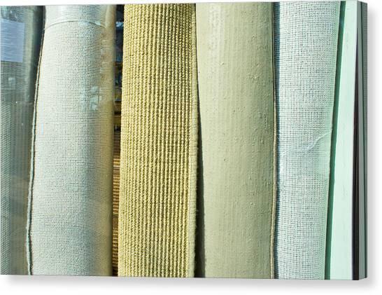 Selection Canvas Print - Carpet Shop by Tom Gowanlock