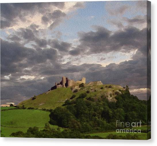 Carreg Cennen Castle North Face Canvas Print by Anthony Forster