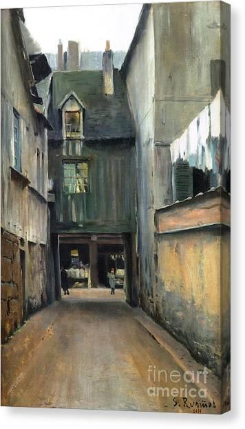 Carrer De Rouen Canvas Print by Roberto Prusso