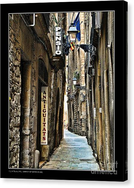 Carrer De Sant Domenec Del Call Canvas Print