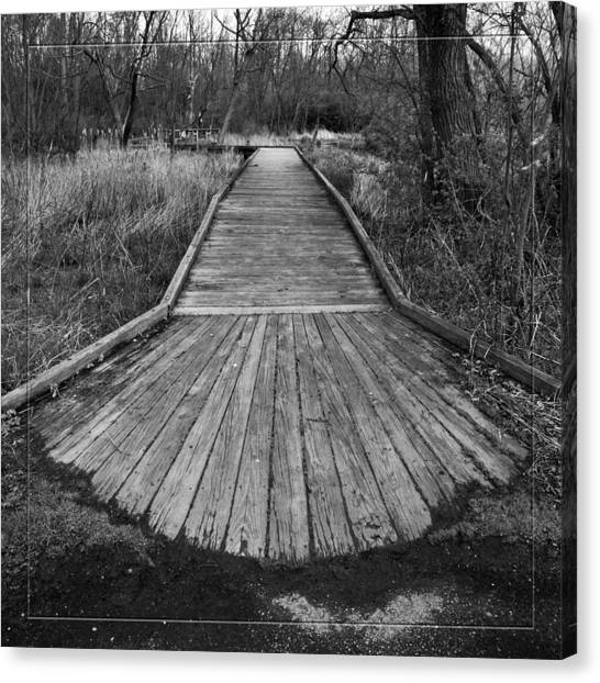 Carriage Hill Boardwalk A Canvas Print by Robert Clayton
