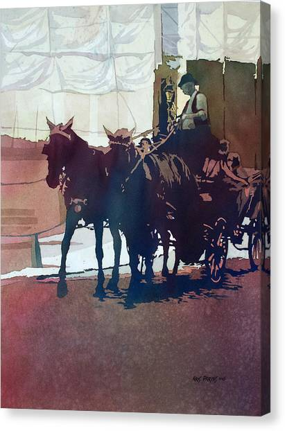 Draft Horses Canvas Print - Carriage Trade by Kris Parins