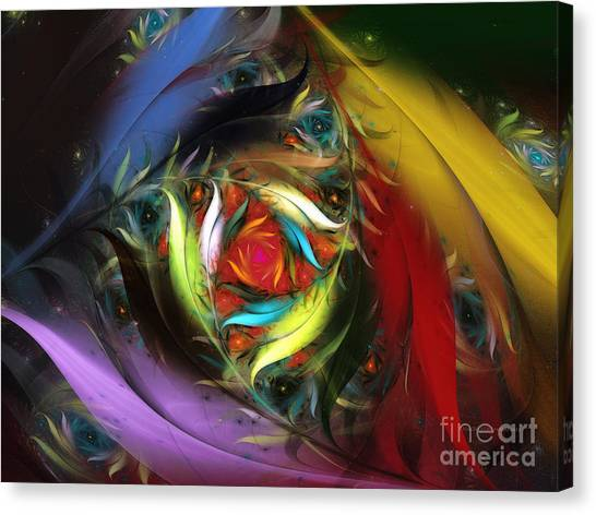 Carribean Nights-abstract Fractal Art Canvas Print