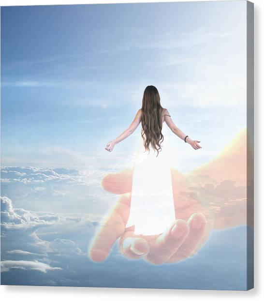 Carried By God's Hand Canvas Print