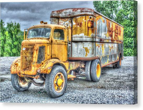 Rusty Truck Canvas Print - Carrier by Dan Stone