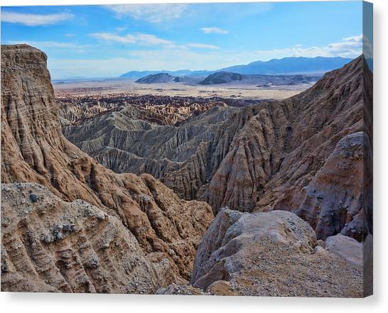 Canvas Print featuring the photograph Carrizo Badlands Nov 2013 by Jeremy McKay