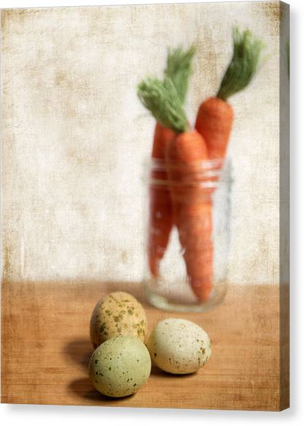 Carrots Canvas Print - Carrots And Eggs 2 by Rebecca Cozart