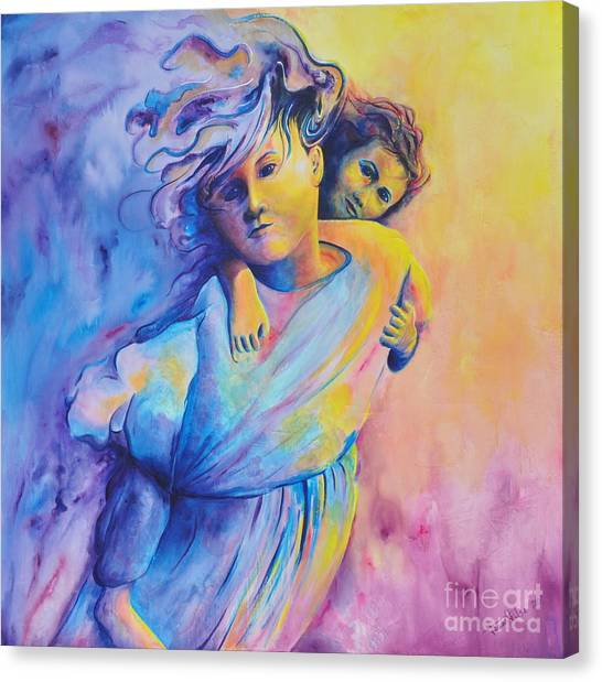 Carrying Her Canvas Print