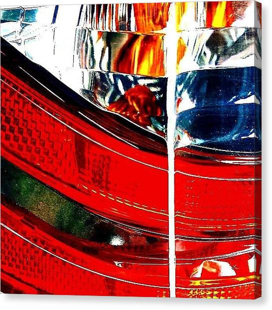 Racing Canvas Print - Brake Light by Jason Michael Roust