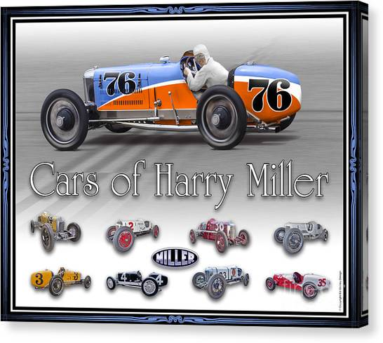 Cars Of Harry Miller Canvas Print