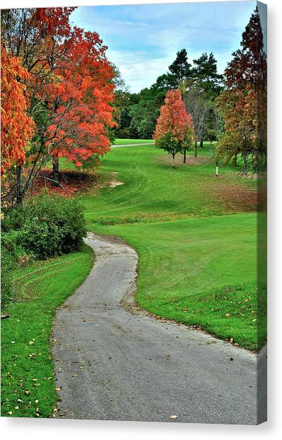 Jack Nicklaus Canvas Print - Cart Path by Frozen in Time Fine Art Photography