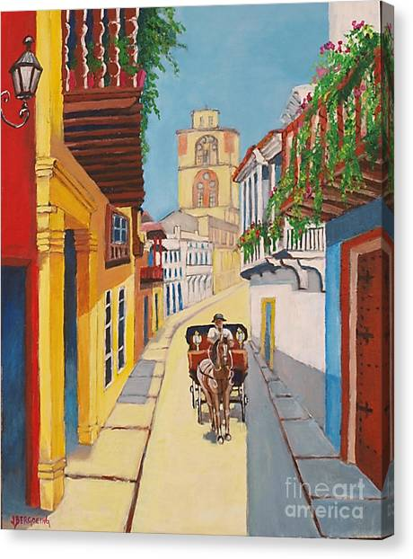 Cartagena's Calash Canvas Print