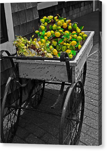 Cartful Of Lemons And Apples Canvas Print
