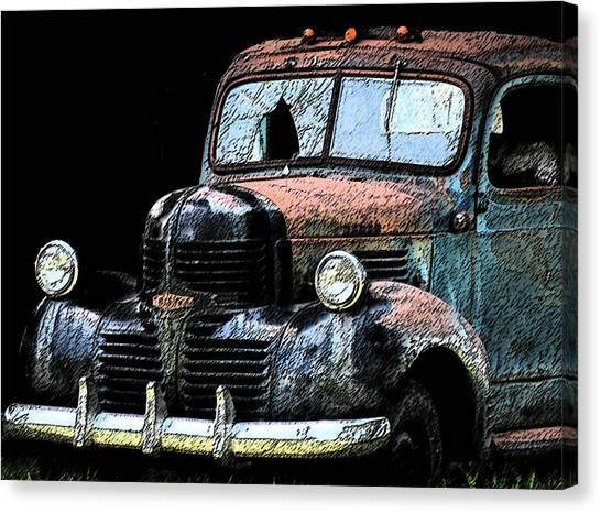 Cartoon Truck Canvas Print
