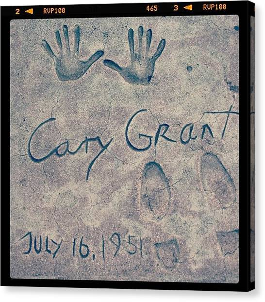 Hollywood Canvas Print - #carygrant #moviestar #star #hollywood by Jill Battaglia