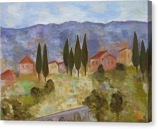 Casas De Segovia Canvas Print