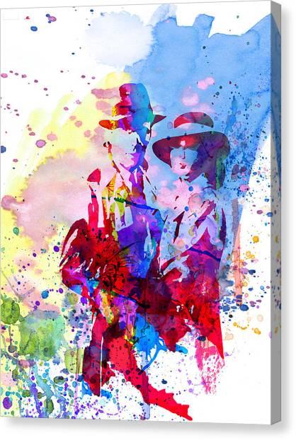 Tv Shows Canvas Print - Casablanca Watercolor by Naxart Studio