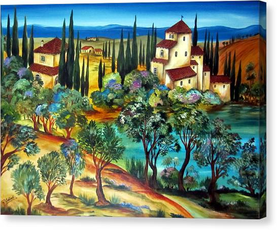 Casali Toscani-tuscany Farmhouses Canvas Print