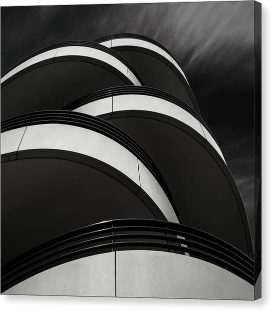 Modern Architecture Canvas Print - Cascade Balcony by Gilbert Claes