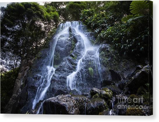 Cascade On Sao Muigel Canvas Print