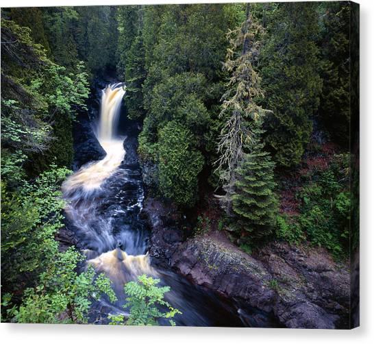 Cascade River Lower Falls Canvas Print by Tim Hawkins