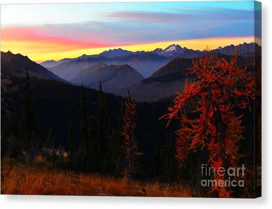 Cascades Sunrise Canvas Print