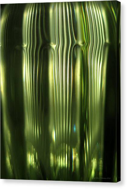 Cascading Green Canvas Print