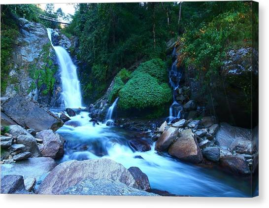 Himalayas Canvas Print - Cascading Water by FireFlux Studios