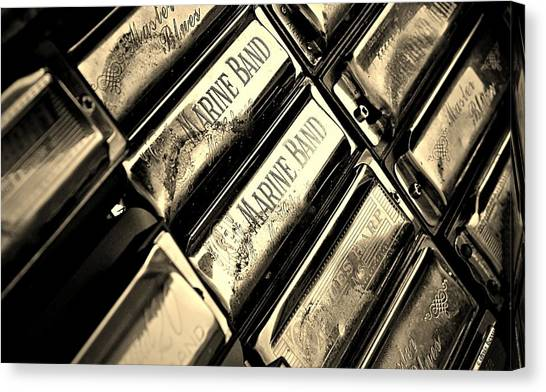 Music Genres Canvas Print - Case Of Harmonicas  by Chris Berry