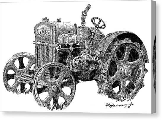 Case Tractor Canvas Print by Rob Christensen