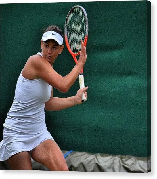 Tennis Canvas Print - Casey Dellacqua (@caseydellacqua) At by Mateusz Plaza
