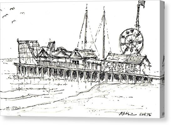Casino Pier In Seaside Heights Nj Canvas Print