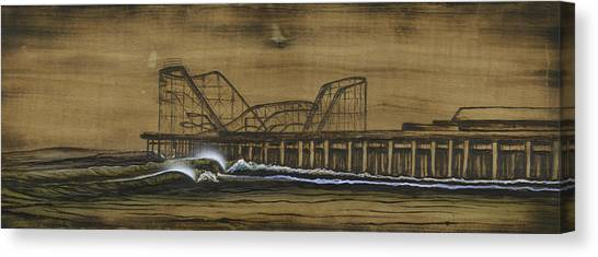 Casino Pier Tribute Canvas Print by Ronnie Jackson
